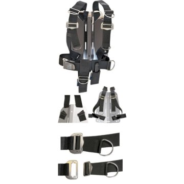 DIR ZONE Backplate 3mm Aluminium mit verstellbarem Harness