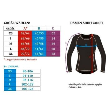 600FT Thermoaktives Shirt Damen