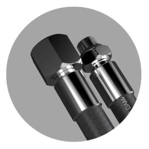 SMOOTH PRO Atemreglerschlauch 100cm