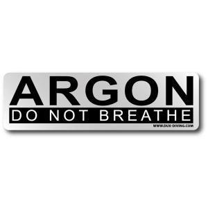 DUX ARGON-Aufkleber
