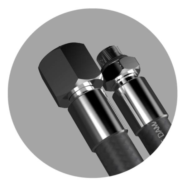 SMOOTH PRO Atemreglerschlauch 56cm